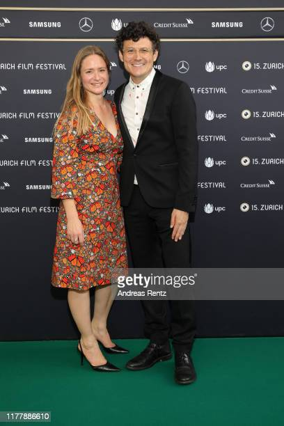 Julia Jentsch and Manuel Rubey attend the Waren einmal Revoluzzer photo call during the 15th Zurich Film Festival at Kino Corso on September 29 2019...