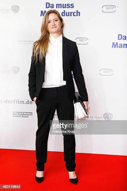 Julia Jentsch attends the 'Da muss Mann durch' German Premiere on January 28 2015 in Berlin Germany