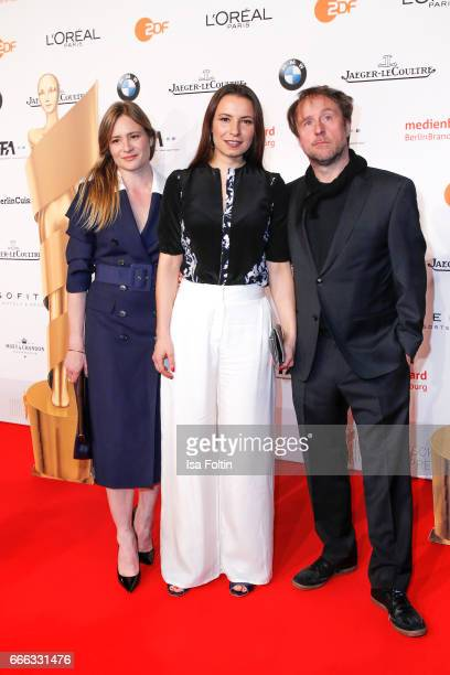 Julia Jentsch Director Anne Zohra Berrached and Carl Gerber attend the nominee dinner for the German Film Award 2017 Lola at BMW Niederlassung Berlin...