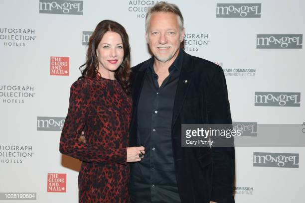 Julia Johnston and Edward Burtynsky attend 'The Anthropocene Project' at Mongrel House during the 2018 Toronto International Film Festival at Roy...