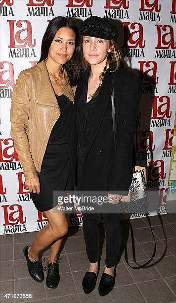Julia Jones and Casey LaBow attend the 'Trash Cuisine' Off Broadway Opening Night at La MaMa Theater on April 29 2015 in New York City