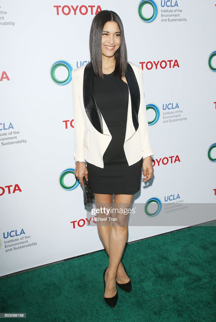 Julia Jones arrives at the UCLA Institute of The Environment and Sustainability celebrates innovators for a healthy planet held at a private residence on March 13, 2017 in Beverly Hills, California.