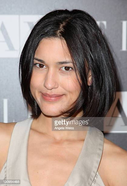 Julia Jones arrives to the A|X Armani Exchange and ELLE's Joe Zee 'Disco Glam' soiree evening at A|X Robertson Store on May 25 2010 in Los Angeles...