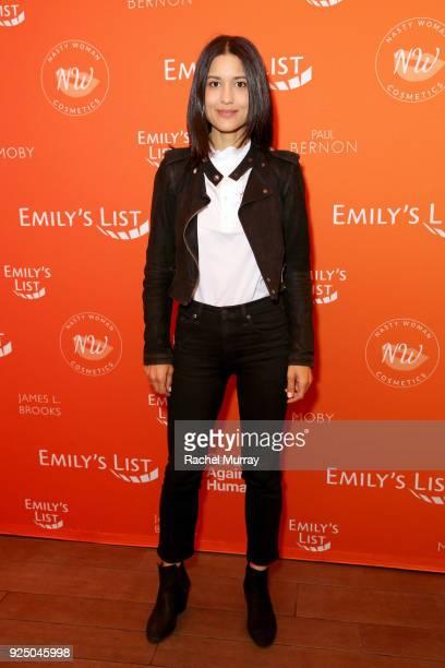 Julia Jones attends EMILY's List's Resist Run Win PreOscars Brunch on February 27 2018 in Los Angeles California