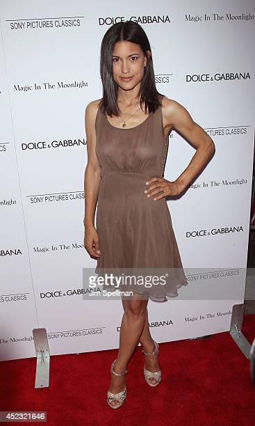 Julia Jones attends 'Magic In The Moonlight' premiere at Paris Theater on July 17 2014 in New York City