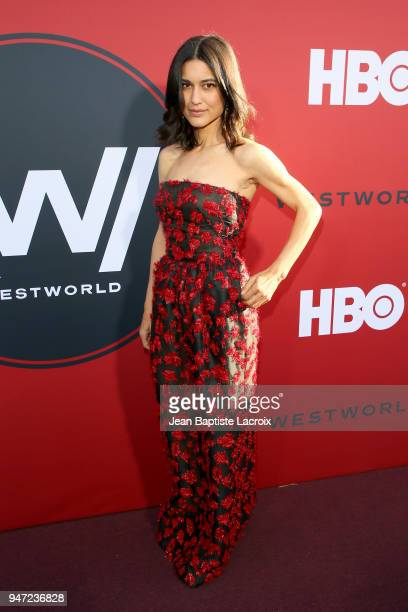 Julia Jones attends the premiere of HBO's Westworld Season 2 at The Cinerama Dome on April 16 2018 in Los Angeles California