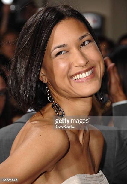 Julia Jones attends the premiere of Summit Entertainment's 'The Twilight Saga New Moon' at Mann's Village Theatre on November 16 2009 in Westwood...