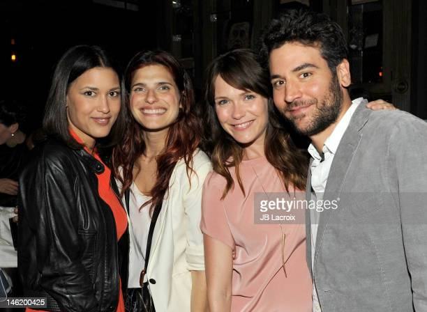 Julia Jones Lake Bell Katie Aselton and Josh Radnor attend Your Sister's Sister Los Angeles premiere after party at Wood Vine on June 11 2012 in...