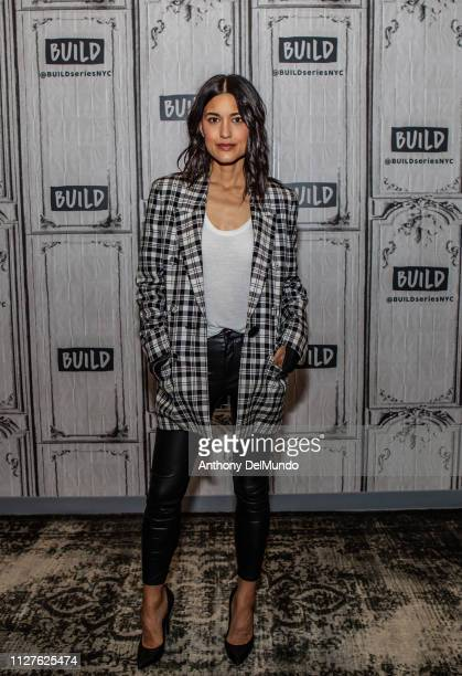 Julia Jones poses for photos before talking about her movie 'Cold Pursuit' at Build Studio on February 05 2019 in New York City