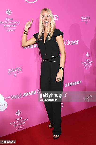Julia Josten attends the CLOSER Magazin Hosts SMILE Award 2014 at Hotel Vier Jahreszeiten on November 4 2014 in Munich Germany