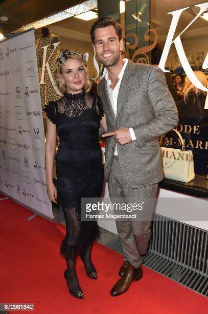 Julia K and Alexander Keen during the 'Kunst Kleid' fashion cocktail on April 25 2017 in Munich Germany