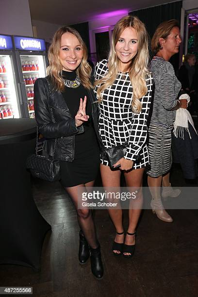 Julia Kautz and Dagi Bee Bibis Beauty Palace during the world premiere of 'Fack ju Goehte 2' afterparty at Burger Lobster Bank on September 7 2015 in...