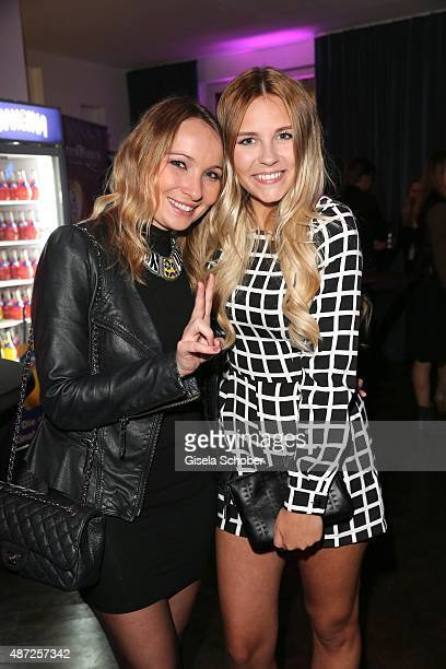 Julia Kautz and Dagi Bee during the world premiere of 'Fack ju Goehte 2' afterparty at Burger Lobster Bank on September 7 2015 in Munich Germany