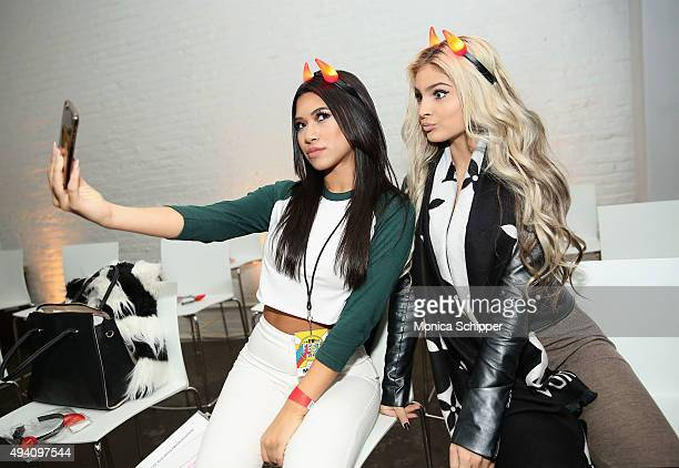 """Julia Kelly and Carrington Durham attend Entertainment Weekly's first ever """"EW Fest"""" presented by LG OLED TV on October 24, 2015 in New York City."""