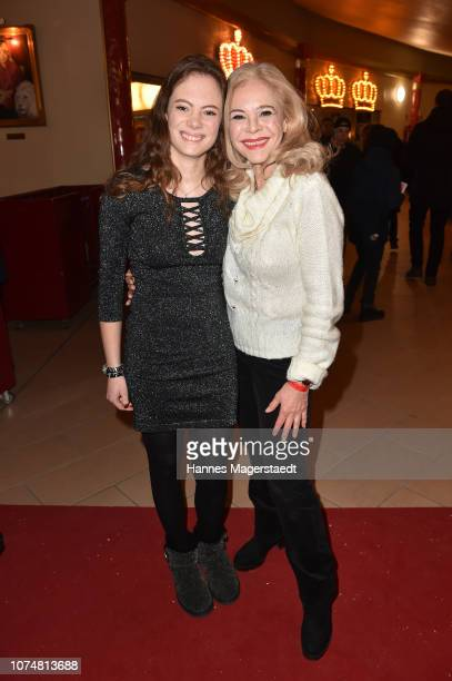 Julia Kent and her daughter Bernadette Kent during the Circus Krone Premiere at Circus Krone on December 25 2018 in Munich Germany