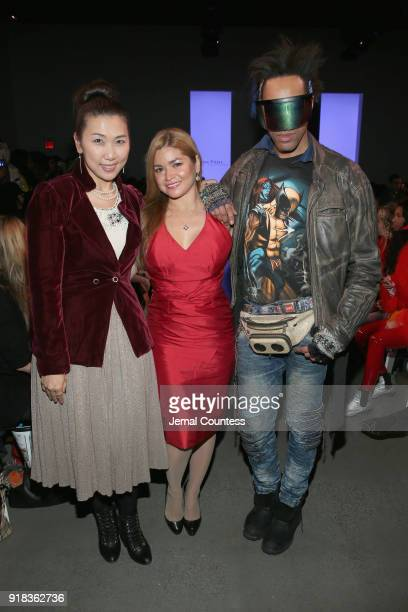 Julia King Karen Koeningsberg and Andre Benton attend the Irina Vitjaz front row during New York Fashion Week The Shows at Gallery I at Spring...