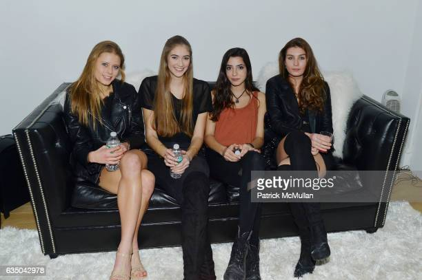 Julia Klinzmann Erica Darrin Daysha Galban and Jessica Witkowski attend Justin Etzin's Birthday Party by Caviar Kaspia at Private Residence on...