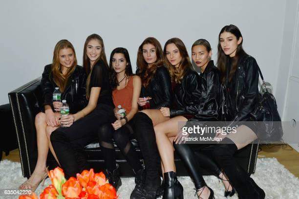 Julia Klinzmann Erica Darrin Daysha Galban Jessica Witkowski Alexandra Cizek Meli Zhang and Arianna Wissinger attend Justin Etzin's Birthday Party by...