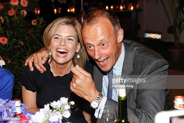 Julia Kloeckner and Friedrich Merz attend the BILD100 event on September 06 2016 in Berlin Germany