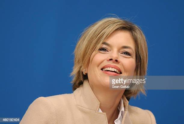 Julia Kloeckner head of the German Christian Democrats in RhinelandPalatinate attends the CDU annual party congress on December 9 2014 in Cologne...