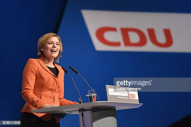 Julia Kloeckner of the German Christian Democrats speaks at the 29th federal congress of the CDU on December 6 2016 in Essen Germany Approximately...