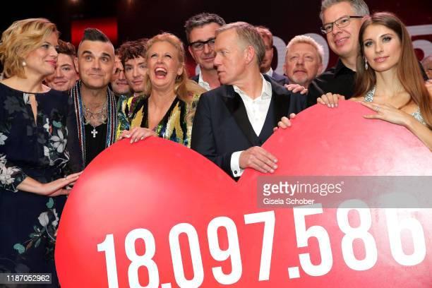 Julia Kloeckner Robbie Williams Barbara Schoeneberger Hans Sigl Johannes B Kerner Boris Becker Frank Thelen Cathy Hummels Dagmar Woehrl with the...