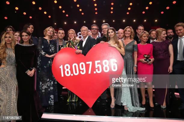 Julia Kloeckner Robbie Williams Barbara Schoeneberger Johannes B Kerner Boris Becker Hans Sigl Cathy Hummels Dagmar Woehrl Uschi Glas with the final...