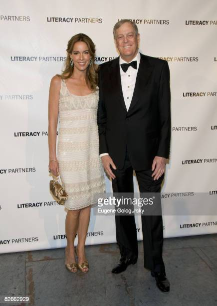 Julia Koch and David Koch attend The 2008 Literacy Partners' Evening of Readings May Gala on May 12 2008 In New York City