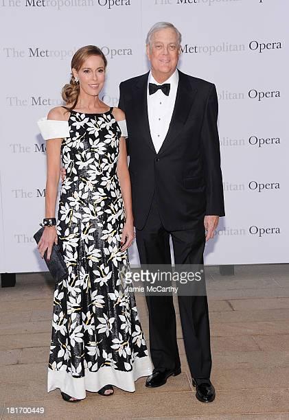 Julia Koch and David Koch attend the Metropolitan Opera Season Opening Production Of Eugene Onegin at The Metropolitan Opera House on September 23...