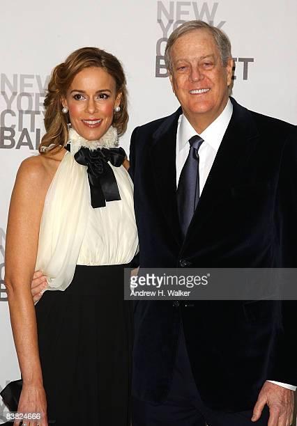 Julia Koch and David Koch attend the opening night celebration of the New York City Ballet at David H Koch Theater Lincoln Center on November 25 2008...