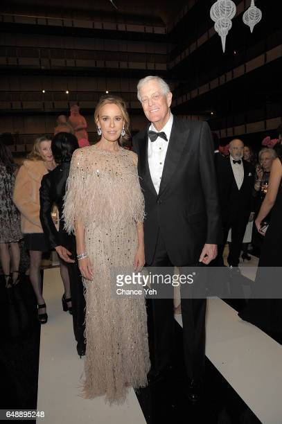 Julia Koch and David Koch attend The School Of American Ballet's 2017 Winter Ball at David H Koch Theater at Lincoln Center on March 6 2017 in New...