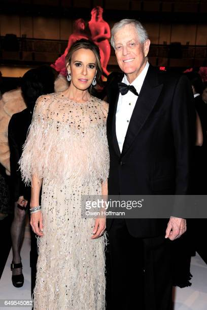 Julia Koch and David Koch attend The School of American Ballet's 2017 Winter Ball at David H Koch Theatre on March 6 2017 in New York City