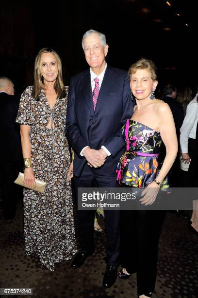 Julia Koch David Koch and Adrienne Arsht attend Through The Kitchen with the Cancer Research Institute at The Grill The Pool Restaurants on April 30...