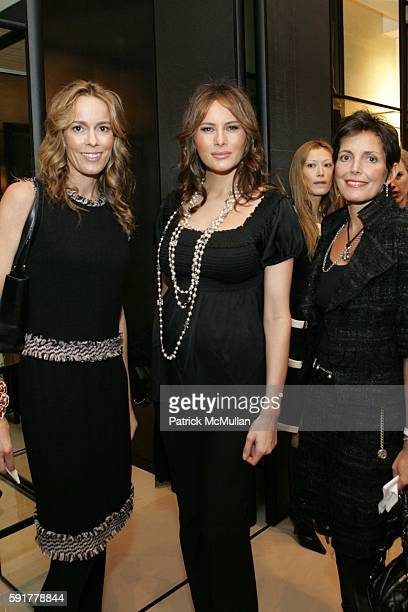 Julia Koch Melania Trump and Maureen Chiquet attend The Camellia Luncheon Sponsored by Chanel to benefit The New York Botanical Garden at Chanel on...