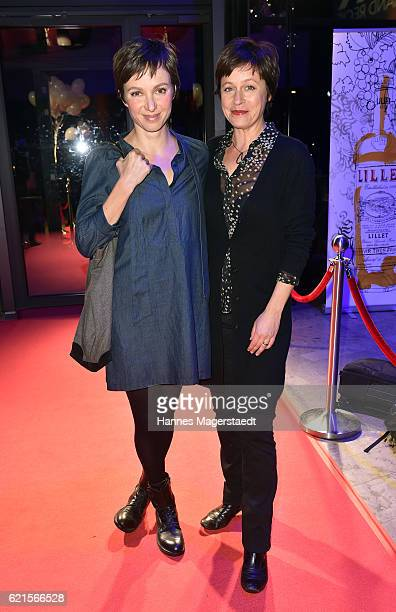 Julia Koschitz and Jule Ronstedt during the MetropolisDeutscher Regiepreis 2016 at HFF Munich on November 6 2016 in Munich Germany