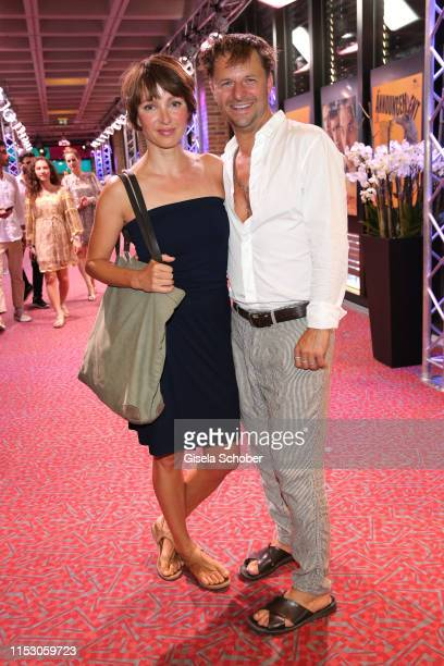 Julia Koschitz and Philipp Hochmair attend the Bernd Burgemeister Fernsehpreis 2019 during the film festival at Gasteig on June 30 2019 in Munich...