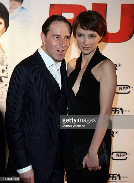 Julia Koschitz and Stefan Kurt attend the 'Ruhm' Germany Film Premiere at 'Residenz eine astor Film Lounge' on March 20 2012 in Cologne Germany