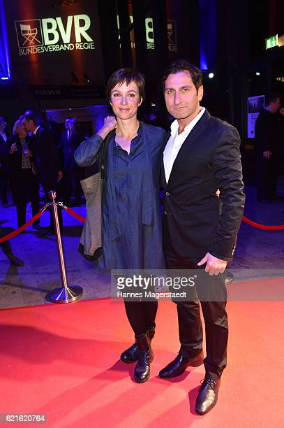Julia Koschitz and Tim Seyfi during the MetropolisDeutscher Regiepreis 2016 at HFF Munich on November 6 2016 in Munich Germany