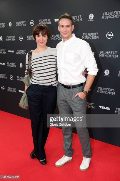 Julia Koschitz and Vladimir Burlakov attend the premiere of the first episode of the crimeseries 'Parfum' as part of the Munich Film Festival 2018 at...