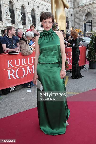 Julia Koschitz attends the 25th Romy Award 2014 at Hofburg Vienna on April 26 2014 in Vienna Austria