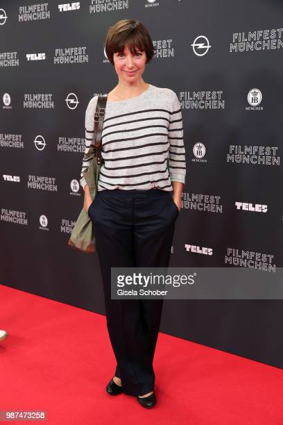 Julia Koschitz attends the premiere of the first episode of the crimeseries 'Parfum' as part of the Munich Film Festival 2018 at Mathaeser Filmpalast...