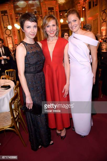 Julia Koschitz Franziska Weisz and Patricia Aulitzky during the ROMY award at Hofburg Vienna on April 22 2017 in Vienna Austria