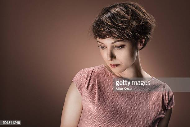 Julia Koschitz is photographed for Self Assignment on July 15 2015 in Munich Germany
