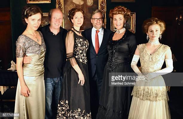 Julia Koschitz Robert Dornhelm Ursula Strauss Alexander Wrabetz Francesca von Habsburg and Josefine Preuss pose during a photo call for the film...