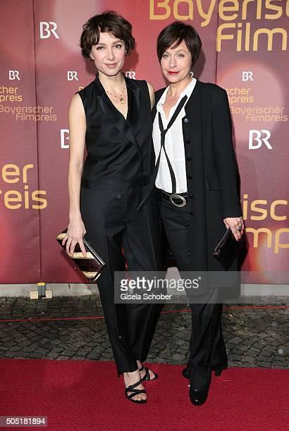 Julia Koschitz und Jule Ronstedt during the Bavarian Film Award 2016 at Prinzregententheater on January 15 2016 in Munich Germany