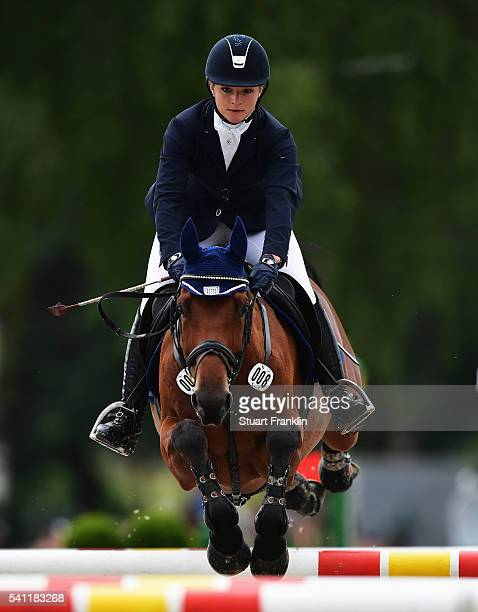 Julia Krajewski of Germany riding Samourai du Thot jumps during the show jumoing section of The Messmer Trophy Luhmuhlen on June 19 2016 in Luhmuhlen...