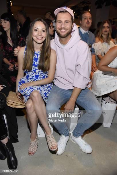 Julia Krueger and Maurice Gajda attend the Ewa Herzog show during the MercedesBenz Fashion Week Berlin Spring/Summer 2018 at Kaufhaus Jandorf on July...