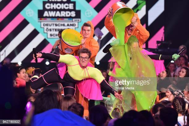 Julia Krueger Sascha Quade during the Nickelodeon Kids Choice Awards on April 6 2018 in Rust Germany