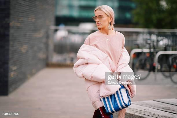 Julia Kuczynska Maffashion outside Versus during London Fashion Week September 2017 on September 17 2017 in London England