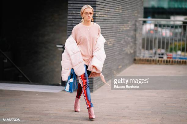Julia Kuczynska Maffashion outside Versus during London Fashion Week September 2017 on September 17 2017 in London England